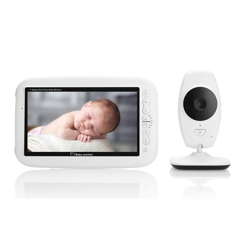 7 0 pulgadas Baba electr nica Baby Monitor ir noche visi n 4 Lullaby temperatura Monitor