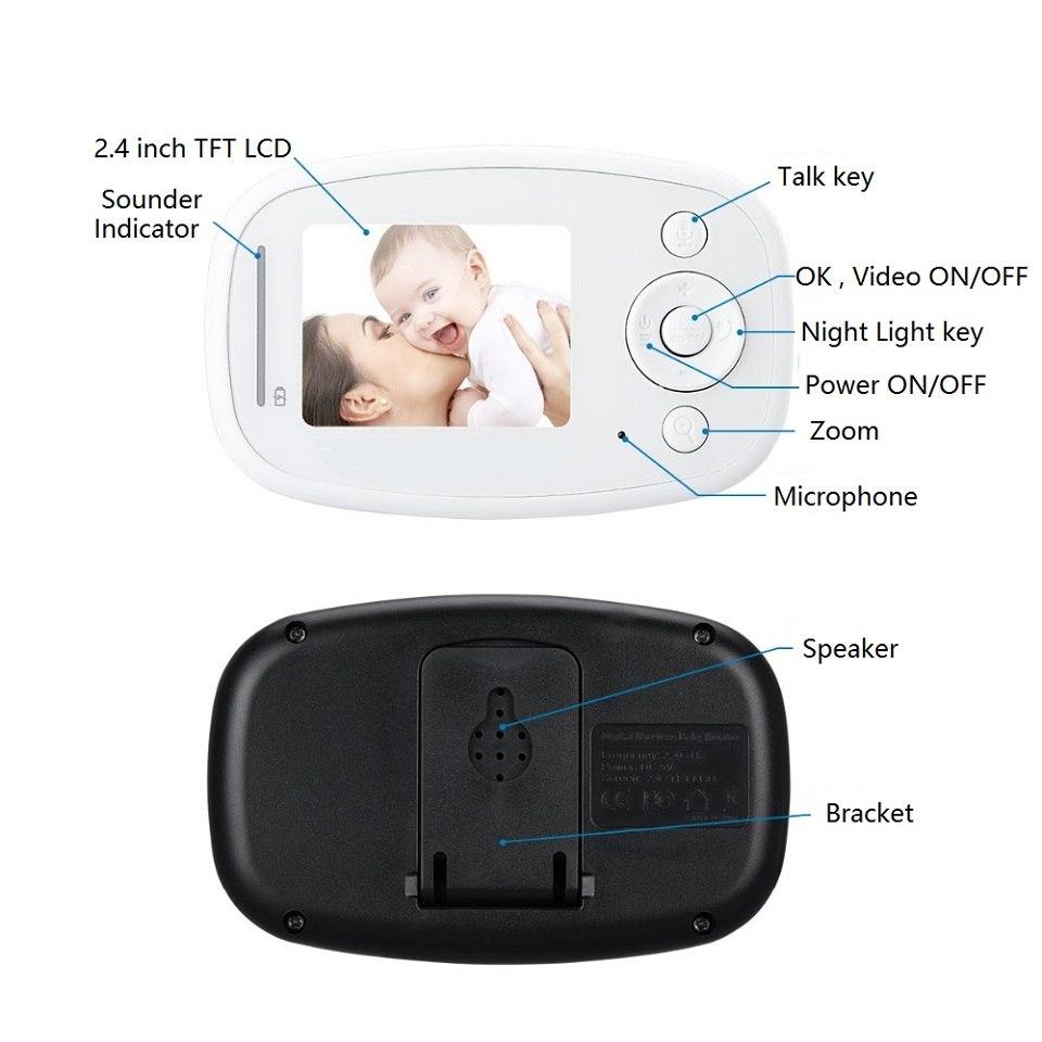 Babykam babyfoon C mara 2 4 monitor del beb audio zoom ir Night Light Vision Lullaby 2