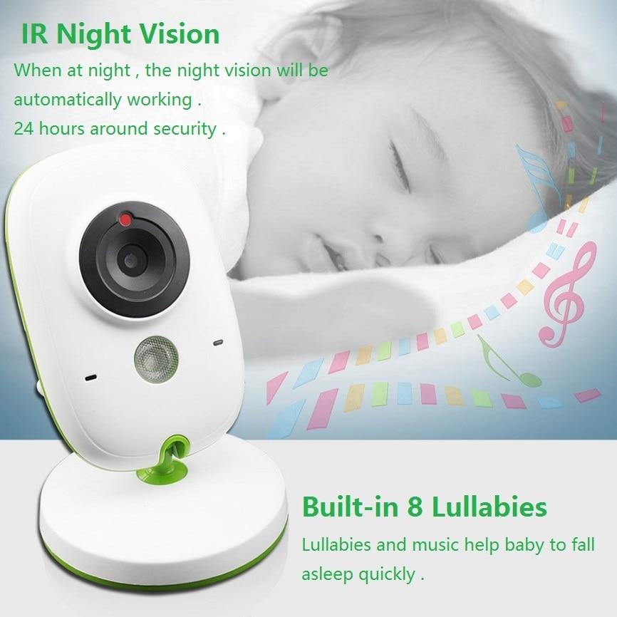 Babykam beb tel fono video Nanny 2 0 pulgadas LCD ir visi n nocturna temperatura Monitores 4