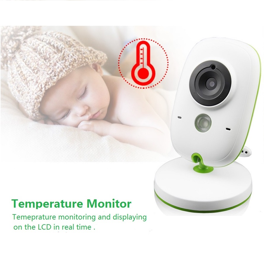 Babykam beb tel fono video Nanny 2 0 pulgadas LCD ir visi n nocturna temperatura Monitores 5