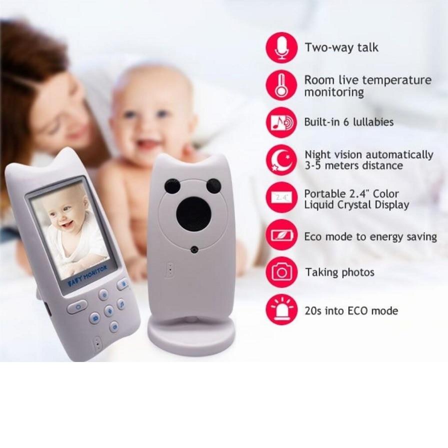 Babykam inal mbrico beb monitor de v deo ni era 2 4 pulgadas LCD IR de 2