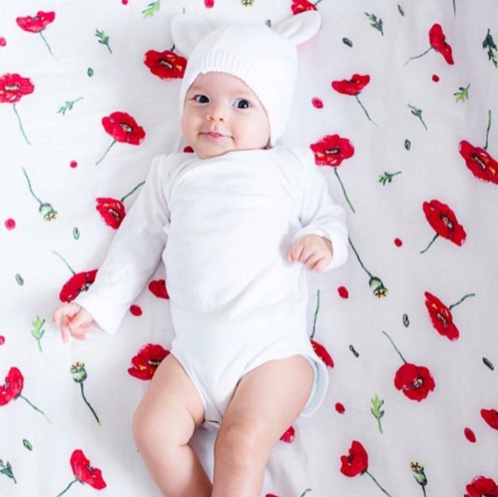 100 bamb 30 algod n beb Swaddle Wraps algod n beb muselina mantas reci n nacido 7
