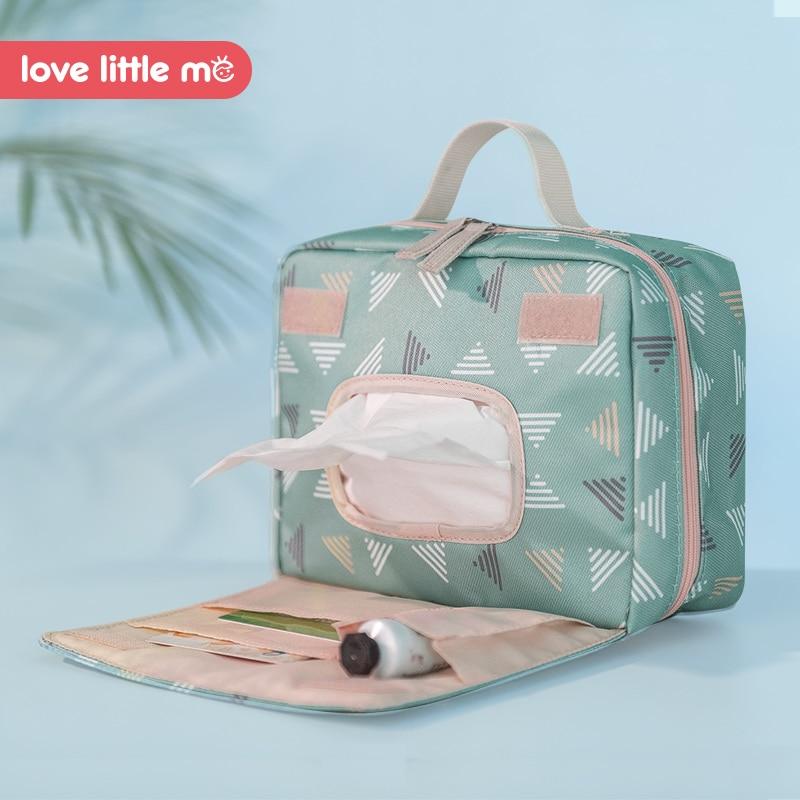 Bolsa de pa ales de beb port til Love Little Me bolsa de maternidad impermeable pa 1