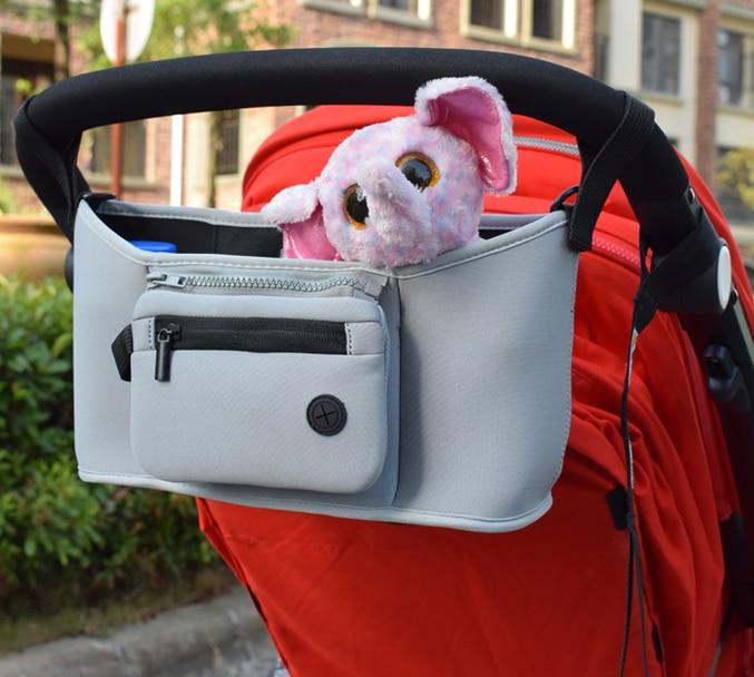 Bolso para cochecito de beb pa al bolso para mam carrito cesta colgante organizador de almacenamiento 2
