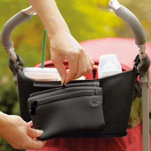 Bolso para cochecito de beb pa al bolso para mam carrito cesta colgante organizador de almacenamiento 4