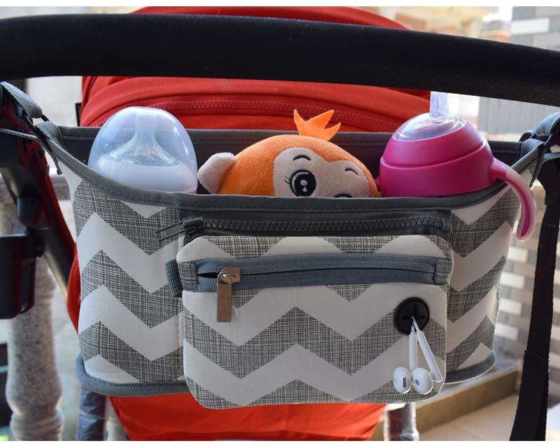 Bolso para cochecito de beb pa al bolso para mam carrito cesta colgante organizador de almacenamiento 5