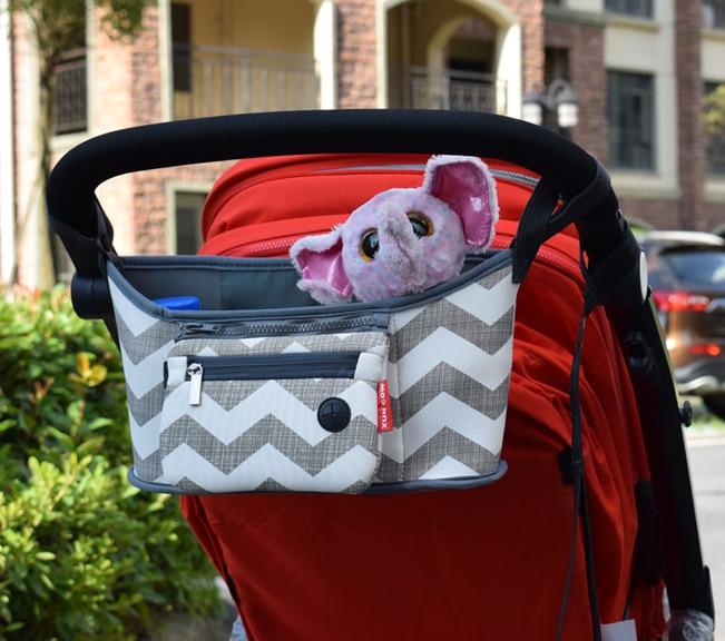 Bolso para cochecito de beb pa al bolso para mam carrito cesta colgante organizador de almacenamiento