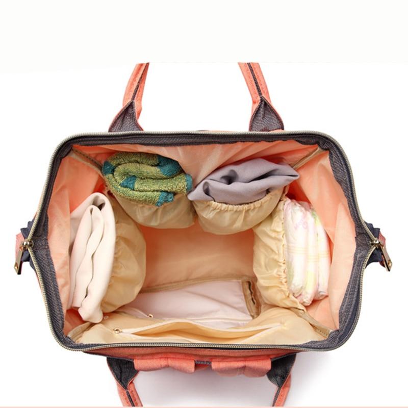 De moda de momia maternidad bolsa de la marca de gran capacidad de viaje beb mochila 3
