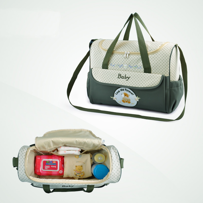 Insular mam beb bolsa multifuncional beb pa al cambiante hombro bolso de maternidad para mam 4