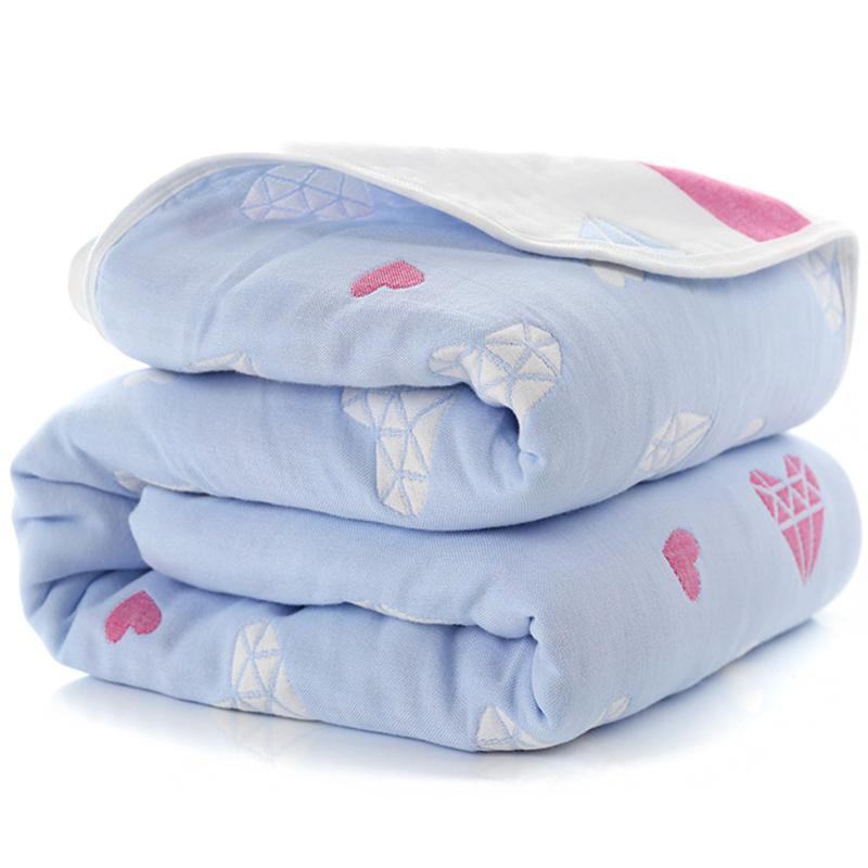 Manta de beb de 110 cm de algod n de muselina 6 capas gruesas para reci 1