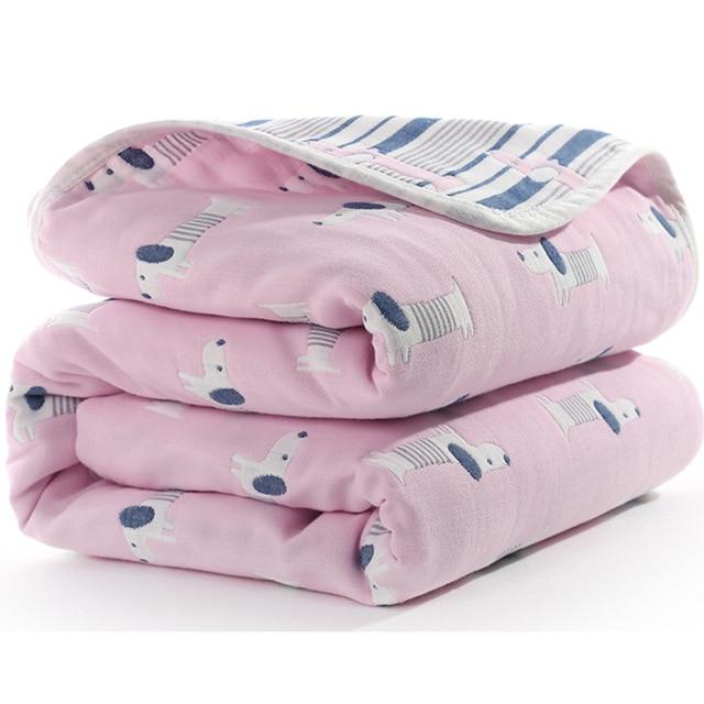 Manta de beb de 110 cm de algod n de muselina 6 capas gruesas para reci 10.jpg 640x640 10