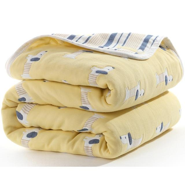 Manta de beb de 110 cm de algod n de muselina 6 capas gruesas para reci 11.jpg 640x640 11