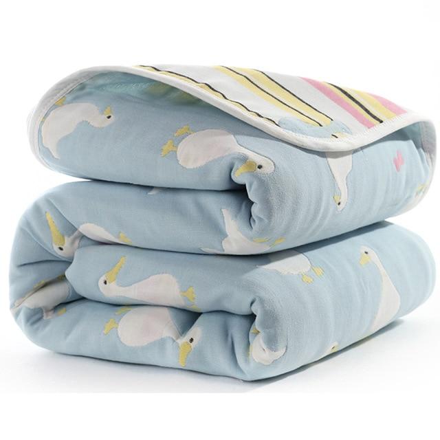 Manta de beb de 110 cm de algod n de muselina 6 capas gruesas para reci 12.jpg 640x640 12
