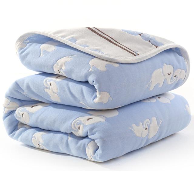 Manta de beb de 110 cm de algod n de muselina 6 capas gruesas para reci 14.jpg 640x640 14