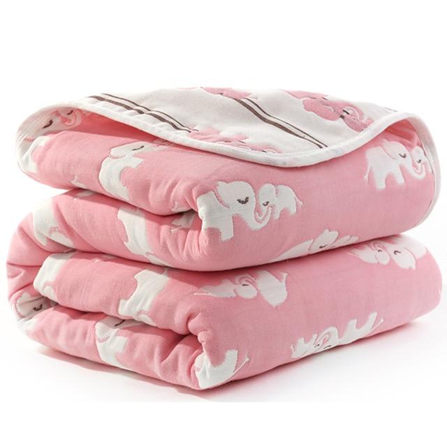Manta de beb de 110 cm de algod n de muselina 6 capas gruesas para reci 15.jpg 640x640 15