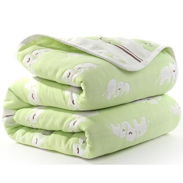 Manta de beb de 110 cm de algod n de muselina 6 capas gruesas para reci 16.jpg 640x640 16