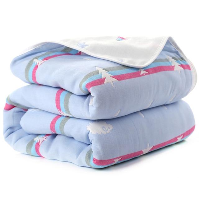 Manta de beb de 110 cm de algod n de muselina 6 capas gruesas para reci 18.jpg 640x640 18