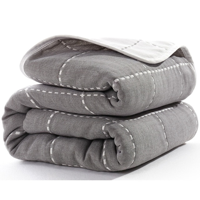 Manta de beb de 110 cm de algod n de muselina 6 capas gruesas para reci 19.jpg 640x640 19