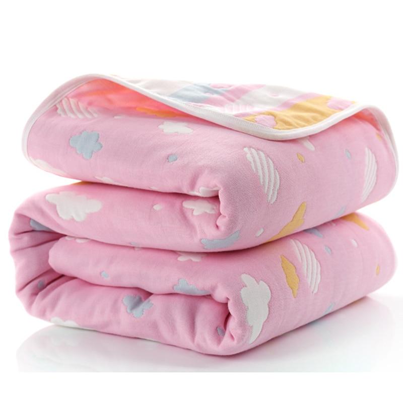 Manta de beb de 110 cm de algod n de muselina 6 capas gruesas para reci 2