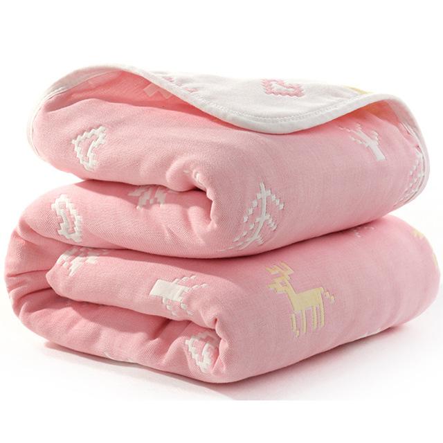 Manta de beb de 110 cm de algod n de muselina 6 capas gruesas para reci 22.jpg 640x640 22