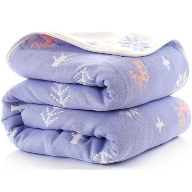 Manta de beb de 110 cm de algod n de muselina 6 capas gruesas para reci 23.jpg 640x640 23