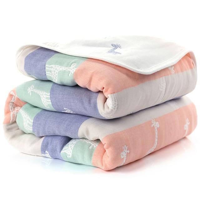 Manta de beb de 110 cm de algod n de muselina 6 capas gruesas para reci 26.jpg 640x640 26