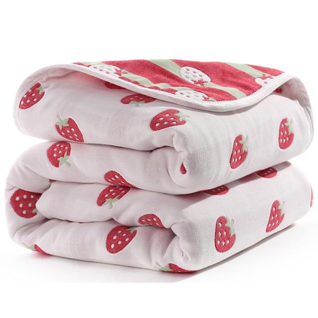 Manta de beb de 110 cm de algod n de muselina 6 capas gruesas para reci 27.jpg 640x640 27