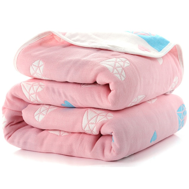 Manta de beb de 110 cm de algod n de muselina 6 capas gruesas para reci 4.jpg 640x640 4