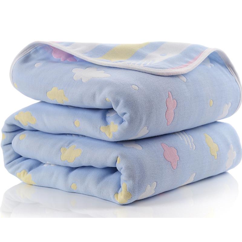 Manta de beb de 110 cm de algod n de muselina 6 capas gruesas para reci 5