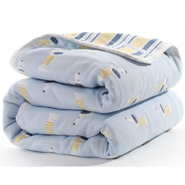 Manta de beb de 110 cm de algod n de muselina 6 capas gruesas para reci 8.jpg 640x640 8