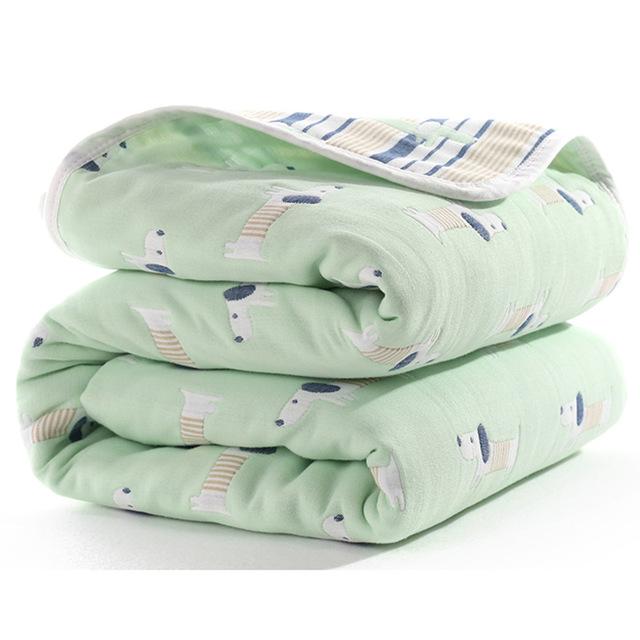 Manta de beb de 110 cm de algod n de muselina 6 capas gruesas para reci 9.jpg 640x640 9