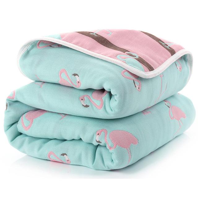 Manta de beb de 110 cm de algod n de muselina 6 capas gruesas para