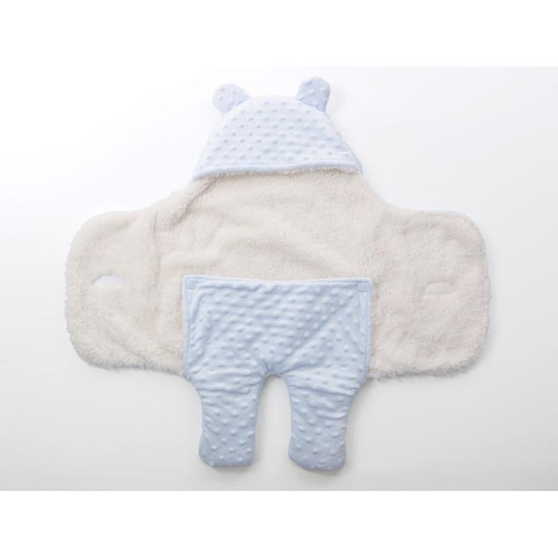 Manta de beb de lana beb reci n nacido Swaddle Wrap suave invierno ropa de cama 4