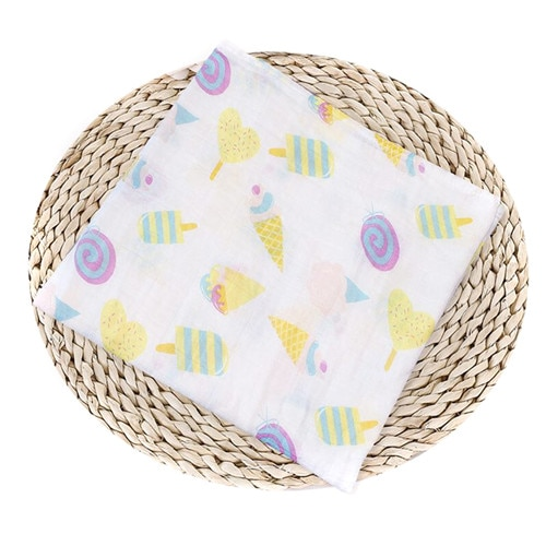 Puseky Flamingo Rosa frutas impresi n mantas muselina del beb cama infantil Swaddle toalla para reci 3.jpg 640x640 3