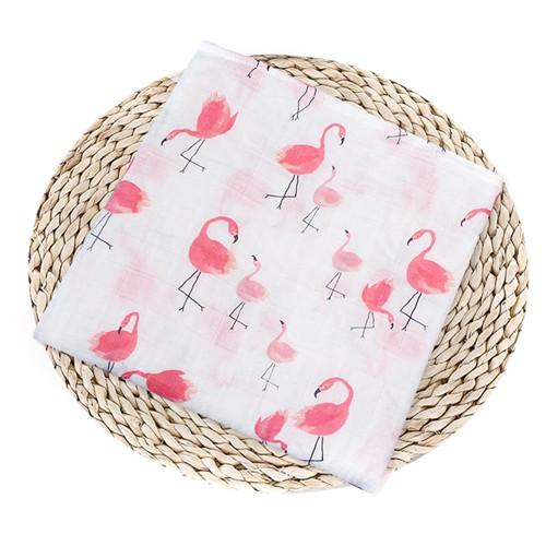 Puseky Flamingo Rosa frutas impresi n mantas muselina del beb cama infantil Swaddle toalla para reci 6.jpg 640x640 6