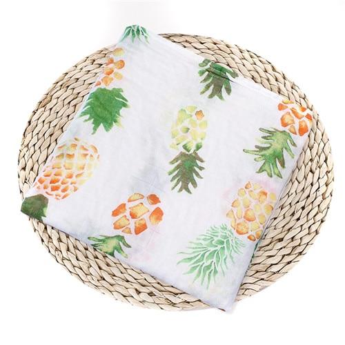 Puseky Flamingo Rosa frutas impresi n mantas muselina del beb cama infantil Swaddle toalla para reci 7.jpg 640x640 7