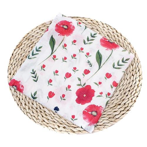 Puseky Flamingo Rosa frutas impresi n mantas muselina del beb cama infantil Swaddle toalla para