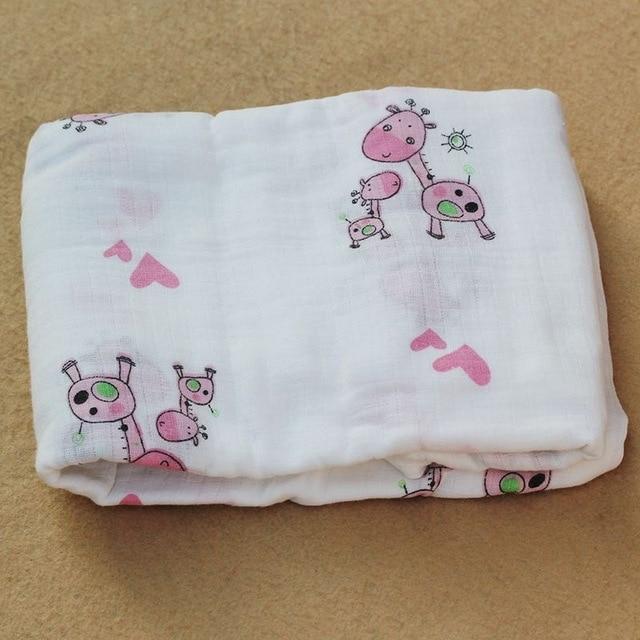 Rosa Cisne 100 algod n rosa Flamingo frutas muselina mantas de Beb Ropa de cama infantil 12.jpg 640x640 12