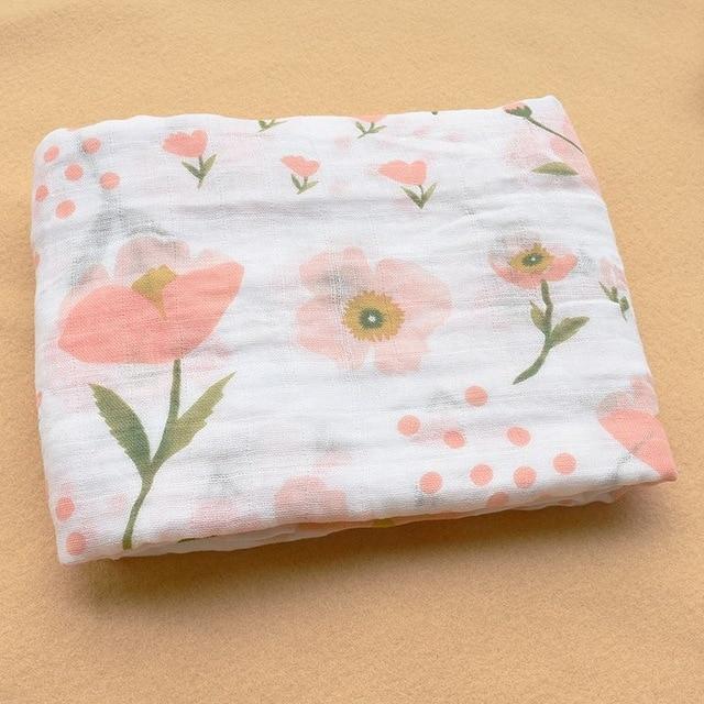 Rosa Cisne 100 algod n rosa Flamingo frutas muselina mantas de Beb Ropa de cama infantil 17.jpg 640x640 17