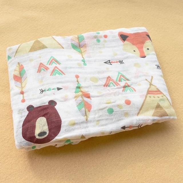 Rosa Cisne 100 algod n rosa Flamingo frutas muselina mantas de Beb Ropa de cama infantil 19.jpg 640x640 19