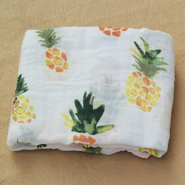 Rosa Cisne 100 algod n rosa Flamingo frutas muselina mantas de Beb Ropa de cama infantil 4.jpg 640x640 4