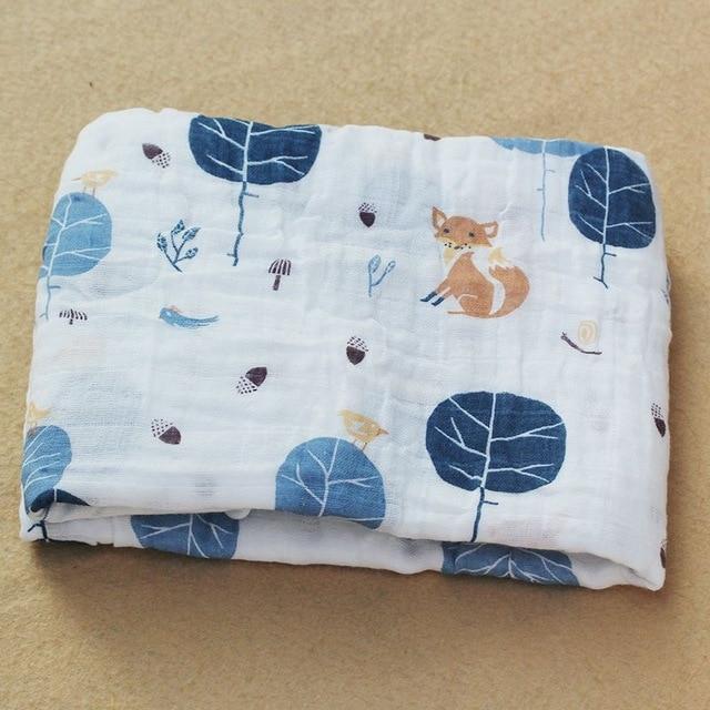 Rosa Cisne 100 algod n rosa Flamingo frutas muselina mantas de Beb Ropa de cama infantil 9.jpg 640x640 9