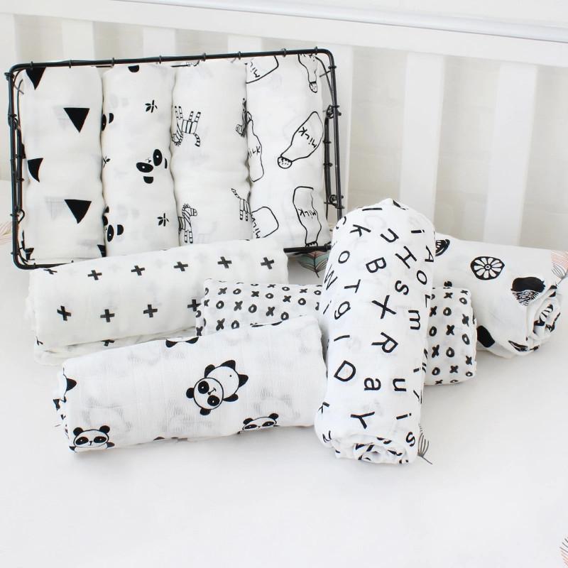 Toallas de algod n muselina para beb para Reci n Nacido mantas de beb Toalla de 1