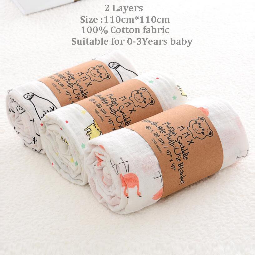 Toallas de algod n muselina para beb para Reci n Nacido mantas de beb Toalla de 2