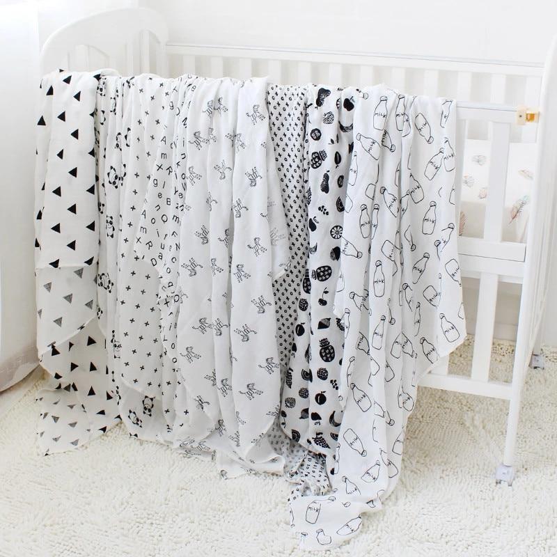 Toallas de algod n muselina para beb para Reci n Nacido mantas de beb Toalla de