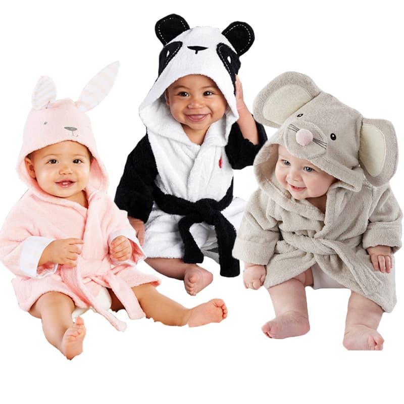 albornoz para bebe de animales 2