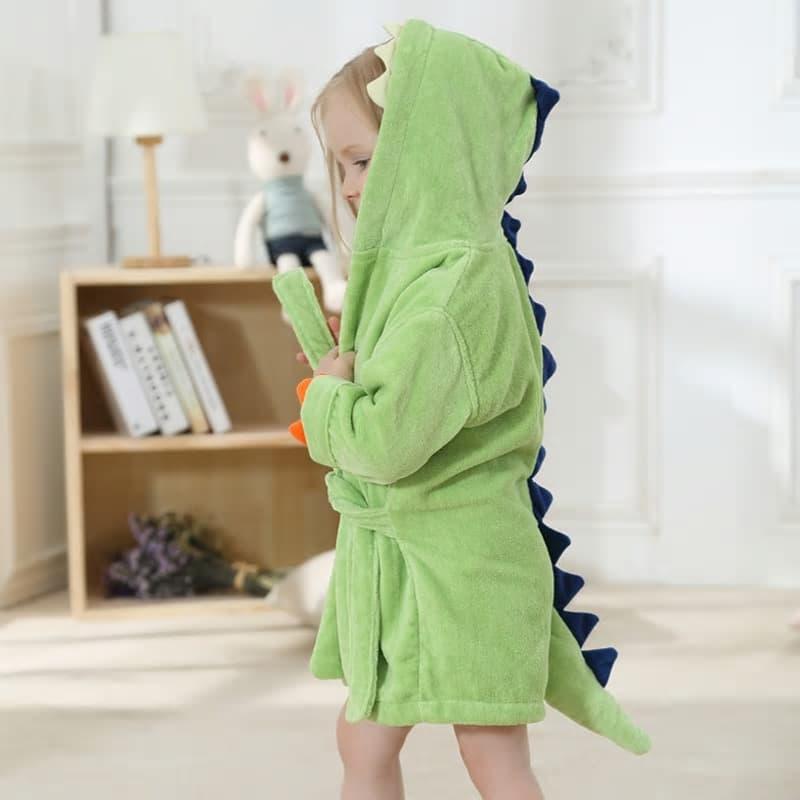 albornoz para bebe de dinosaurio
