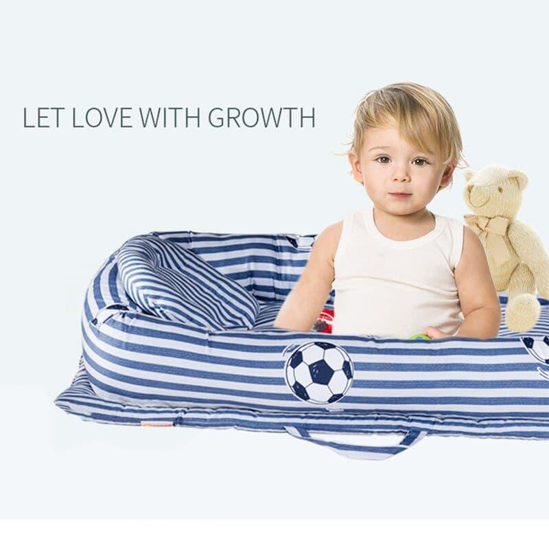 cesta de tela para bebe