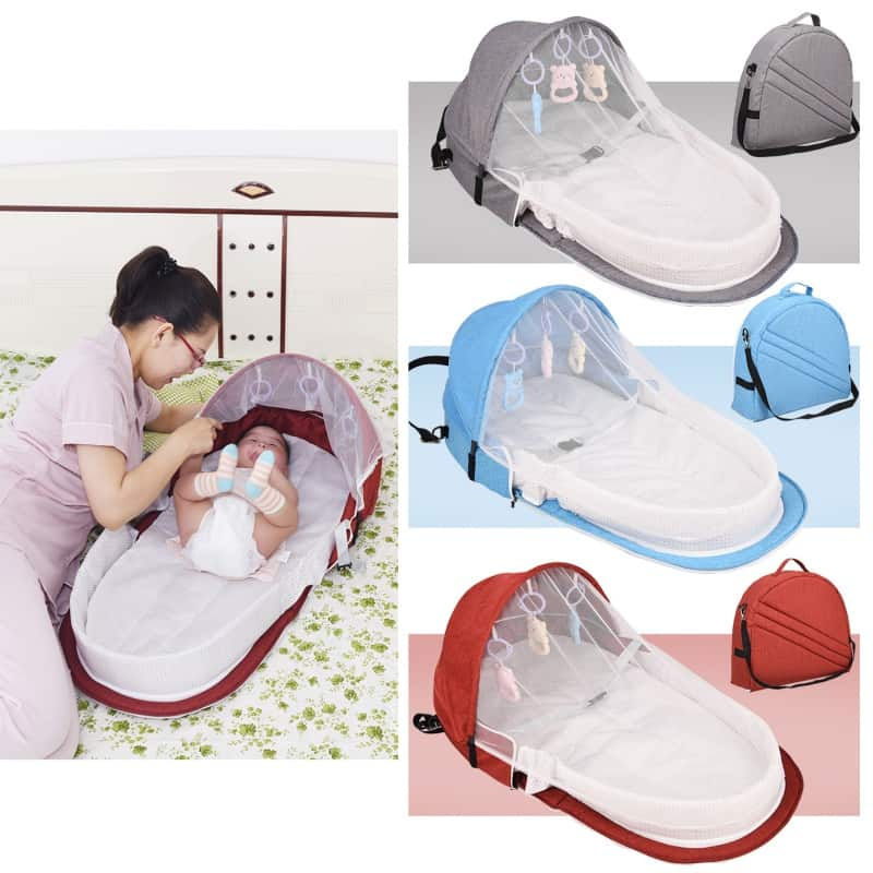 cesta plegable para bebe