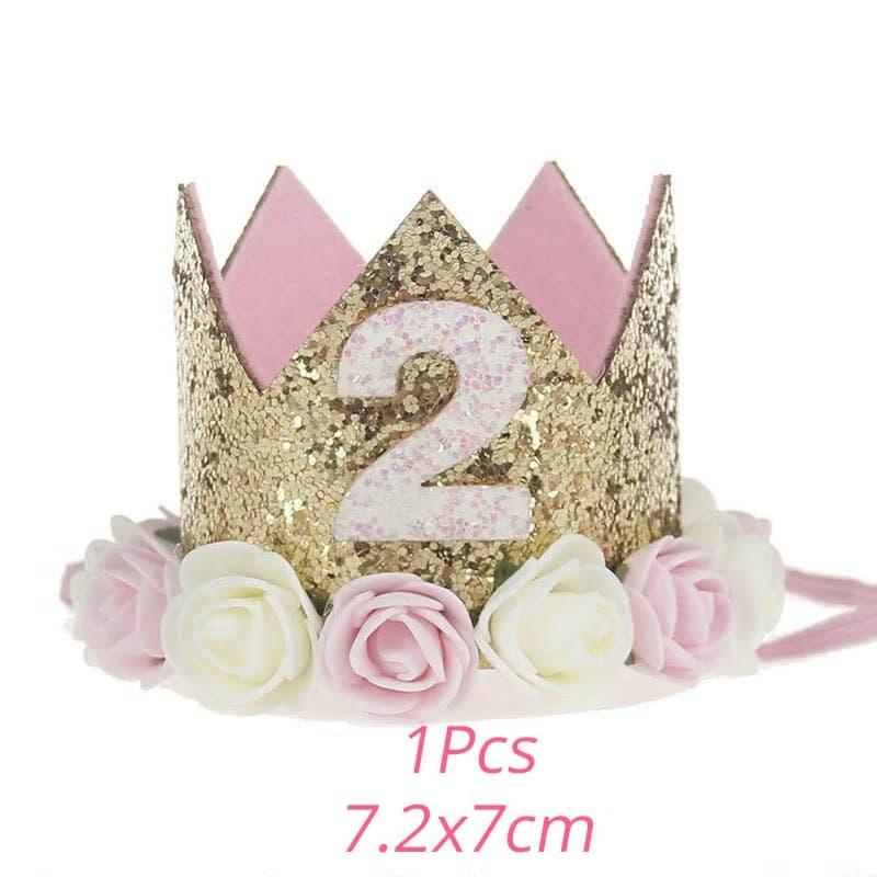 corona de cumpleanos con flores 2